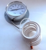 Θερμόμετρο Μεταλλικό Φ100 3m Πούρο Πίσω Φλάντζα Arthermo-Freezecom